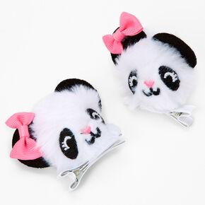 Barrettes à pompons panda Claire'sClub - Lot de 2,