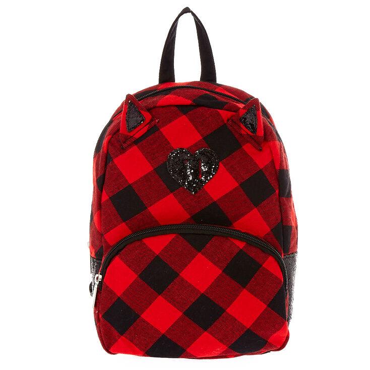 dee0396faf4f Kids Mini Cat Ears Plaid Backpack