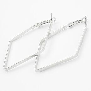 Silver 60MM Geometric Hoop Earrings,
