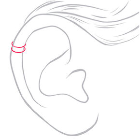 Neon Double Wire Ear Cuffs - 3 Pack,