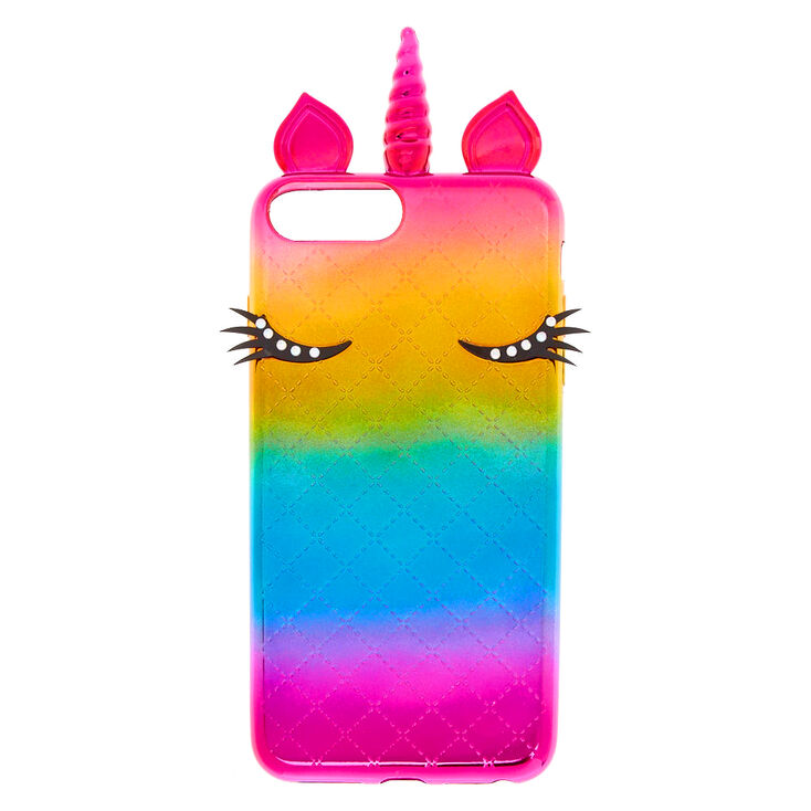 Metallic Rainbow Unicorn Phone Case - Fits iPhone 6/7/8/SE,