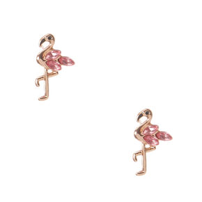18kt Rose Gold Plated Flamingo Earrings,