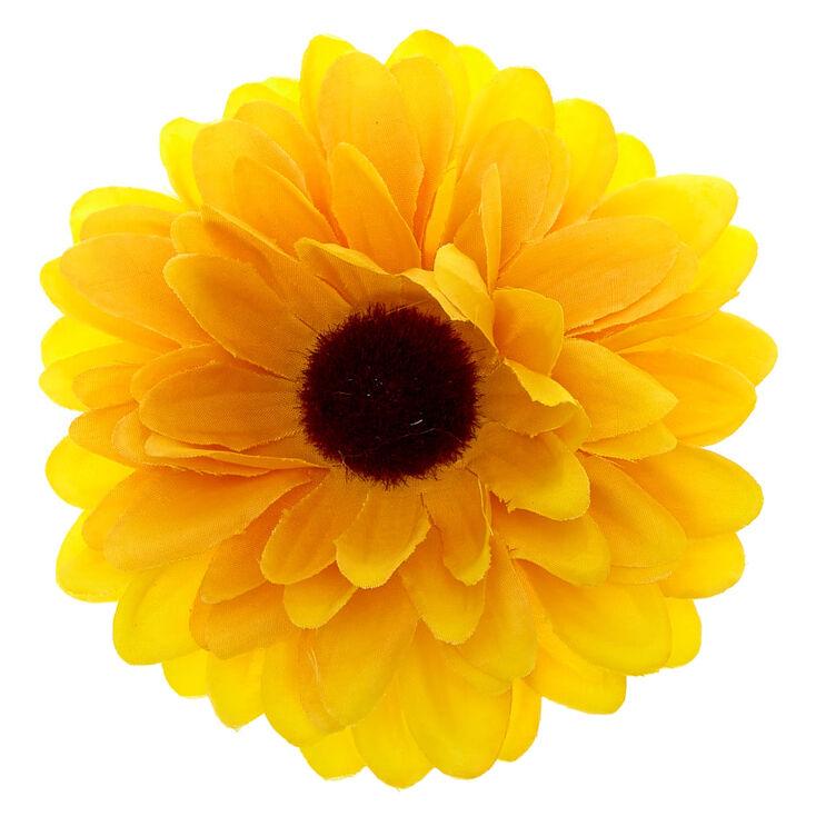 Barrette à cheveux tournesol jaune,