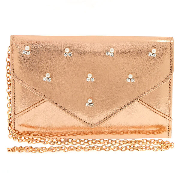 Claire's - rose clutch purse - 1