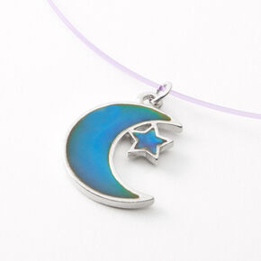 Mood Moon Star Illusion Pendant Necklace,