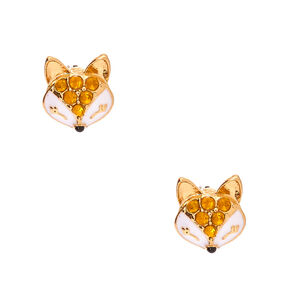 Gold Fox Stud Earrings,