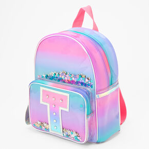 Ombre Shaker Initial Mini Backpack - T,
