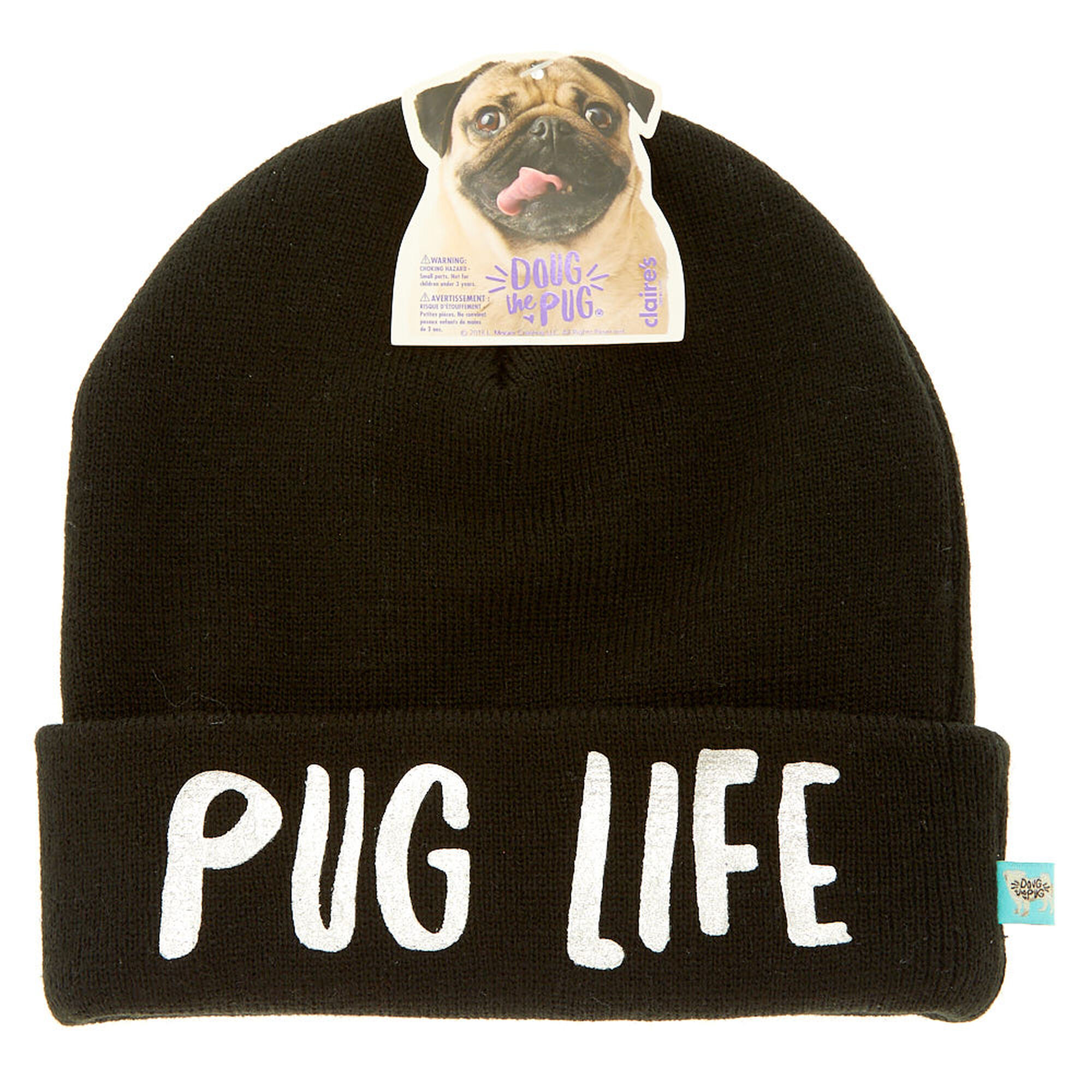 Doug The Pug reg  Pug Life Beanie- ... 2833ee59498