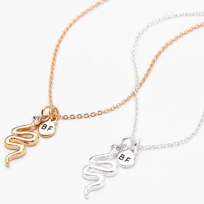 Colliers à pendentif serpent best friends - Lot de 2,