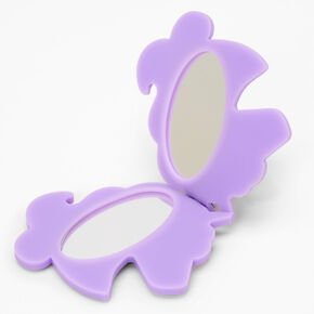 Unicorn Compact Mirror Keychain - White,