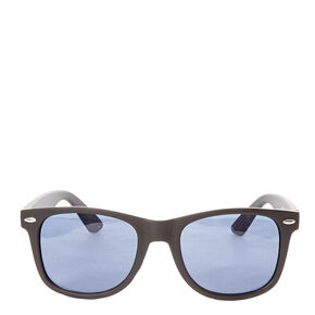 Matte Retro Sunglasses - Black,