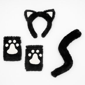 Déguisement de chat phosphorescent en peluche - Noir, lot de 3,