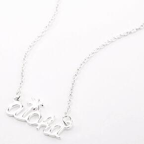 Silver Aloha Pendant Necklace,