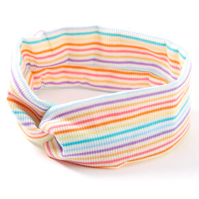 Rainbow Striped Twisted Headwrap,