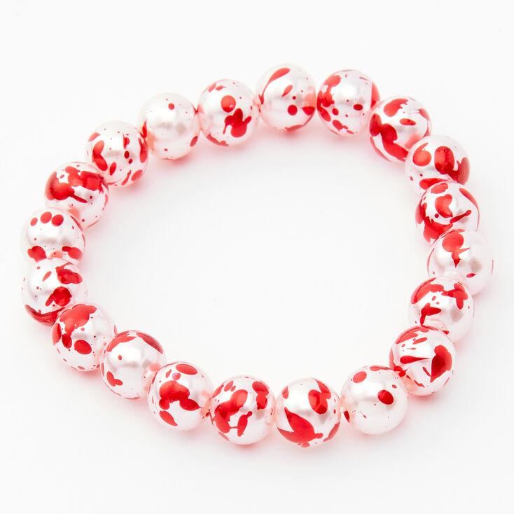 Blood Splatter Beaded Jewelry Set - 2 Pack,