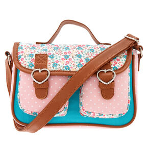 Claire's Club Ditsy Floral Crossbody Messenger Bag,