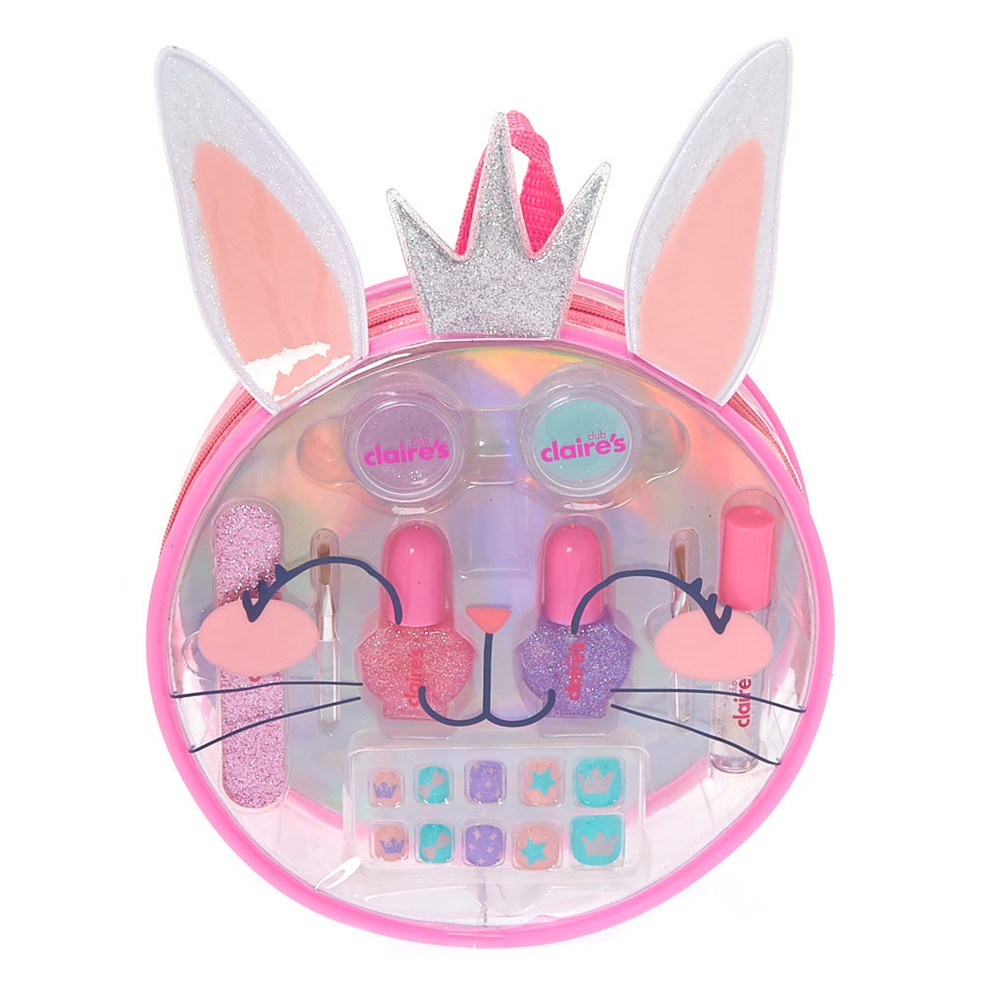 Claire's Club Claire the Bunny Beauty Bag Set - Pink ...