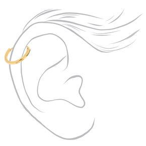 Créoles pour cartilage 10mm couleur argenté et couleur doré,
