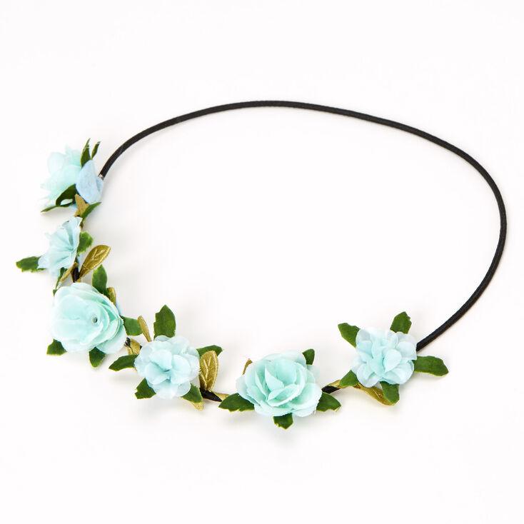 Leaves & Roses Flower Crown Headwrap - Mint,