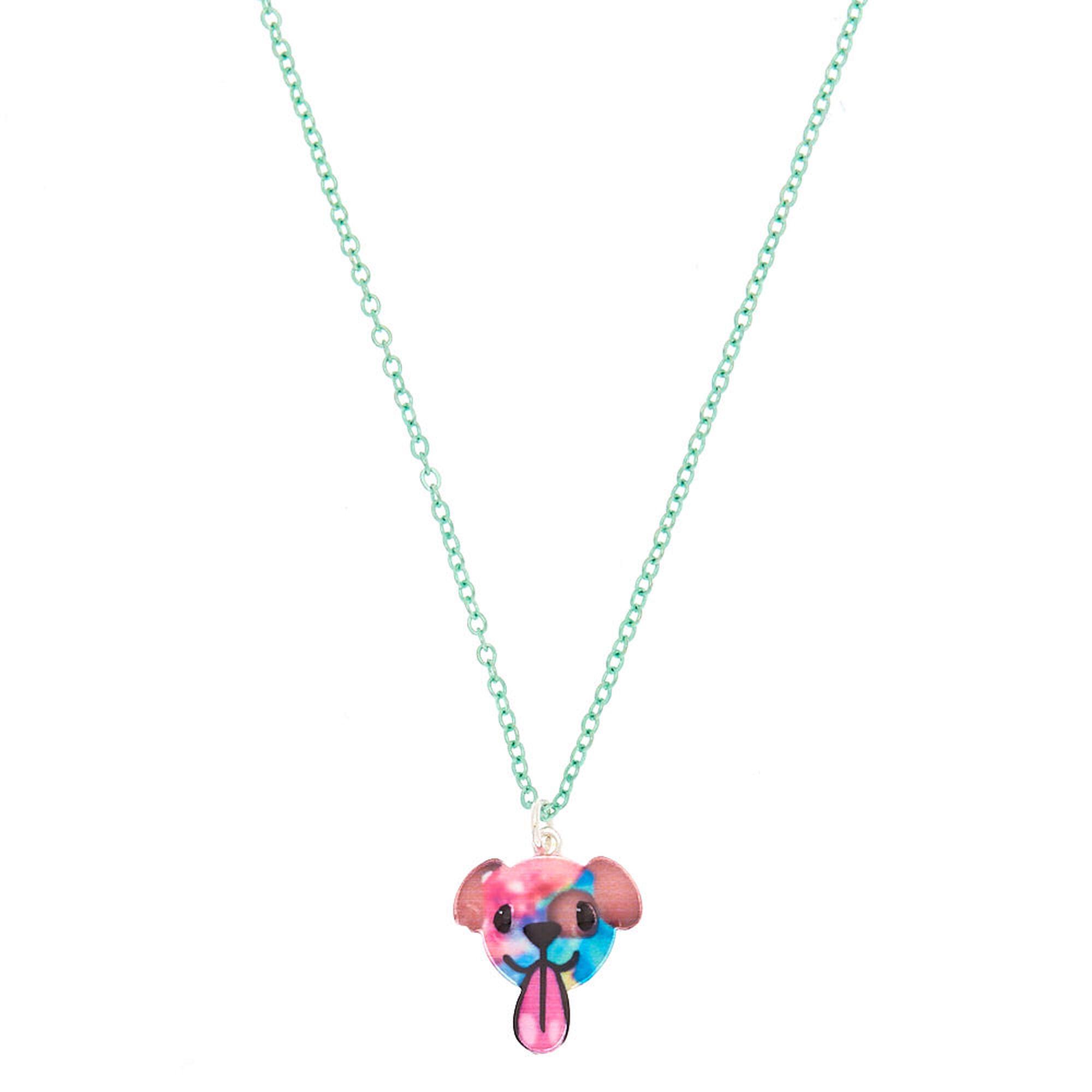 Puppy Emoji Pendant Necklace