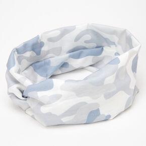 Camo Twisted Headwrap - Grey,