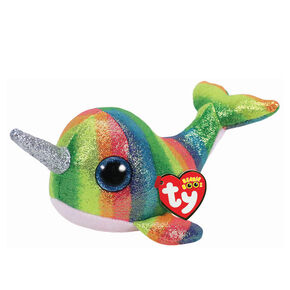76b82ee3a33 Ty Beanie Boo Small Nori the Narwhal Plush Toy