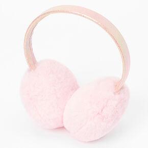 Plush Ear Muffs - Pink,