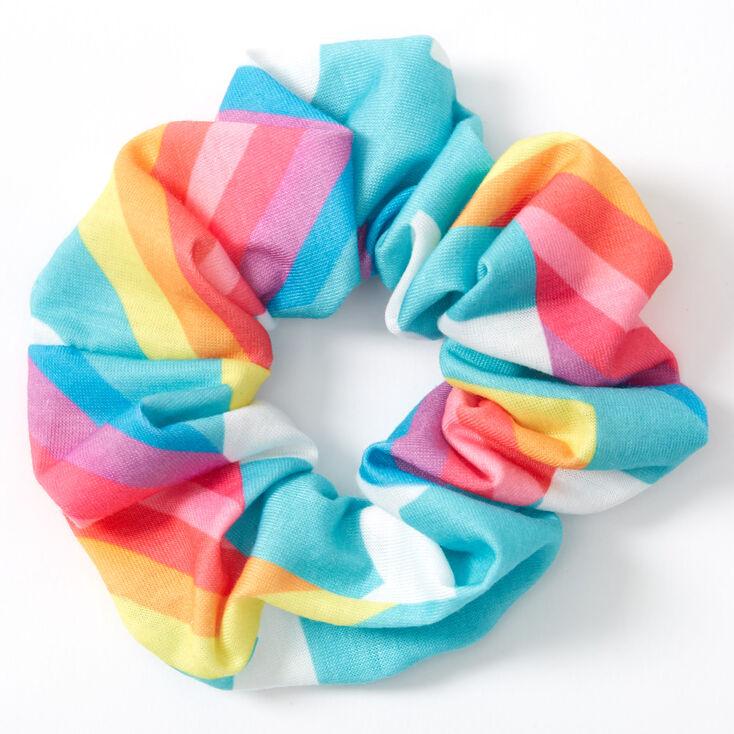Medium Rainbow Cloud Hair Scrunchie,
