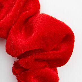 Velvet Santa Claus Hair Scrunchie - Red,
