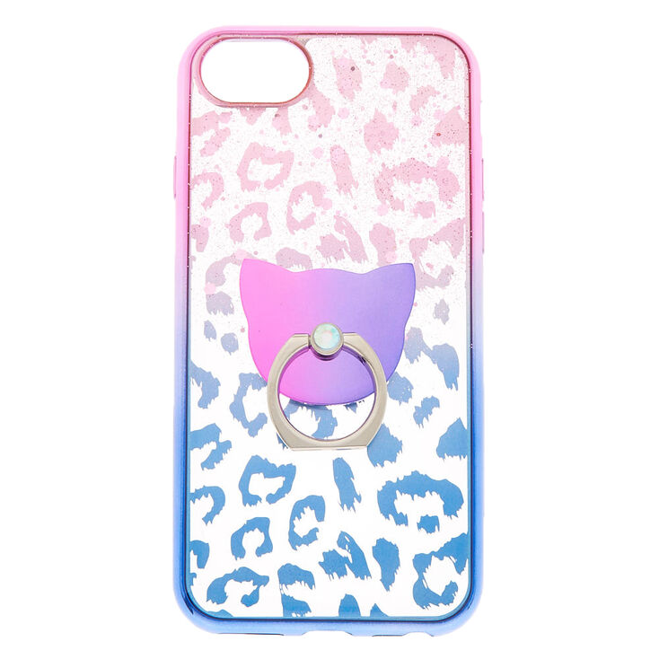online store 8ba51 4213e Ombre Leopard Ring Holder Phone Case - Fits iPhone 6/7/8