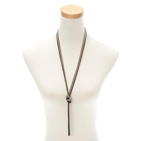 fcc1d7156d94 Long collier à pendentif avec chaînes nouées