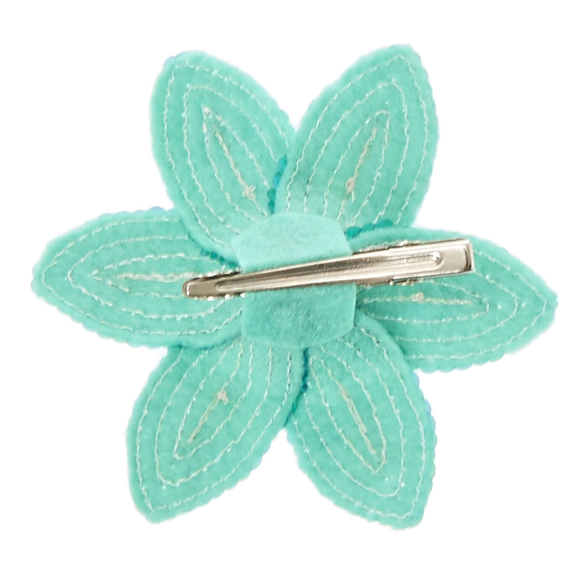 Green Sequin Lily Flower Hair Clip Claires Us