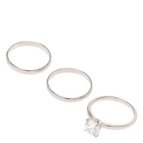 Classic Silver Rings - 3 Pack,