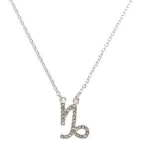Silver Zodiac Pendant Necklace - Capricorn,