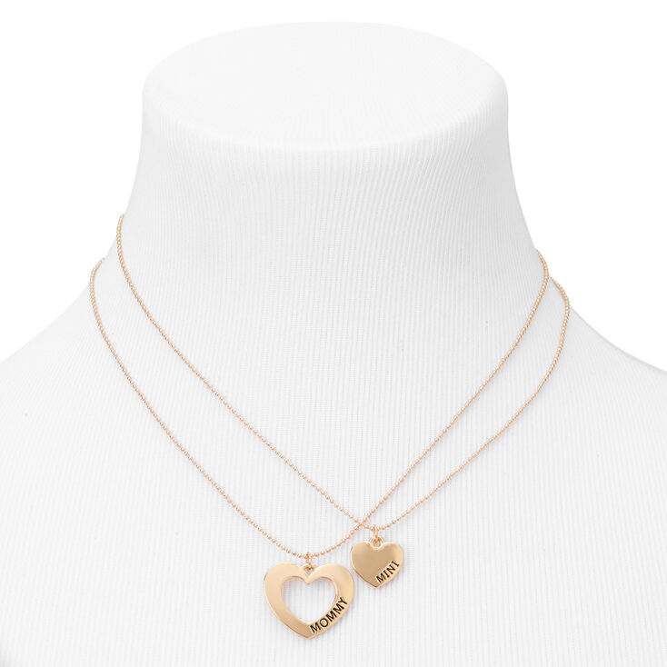 Gold Mommy & Mini Pendant Necklaces - 2 Pack,