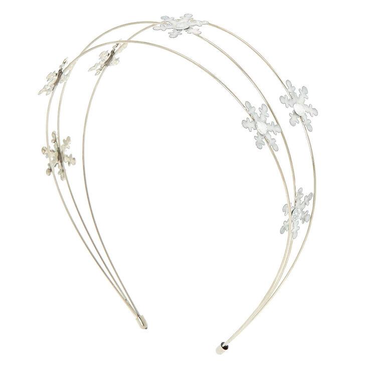 Claire  39 s Club Silver Snowflake Headband 56c7380ed76