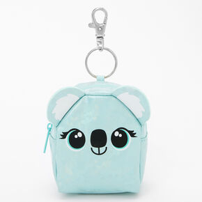 Koala Mini Backpack Keychain - Light Blue,