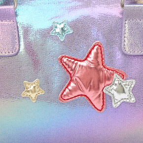 Claire's Club Puffy Star Purse - Purple,