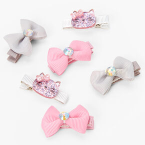Claire's Club Cat Hair Bow Clips - 6 Pack,