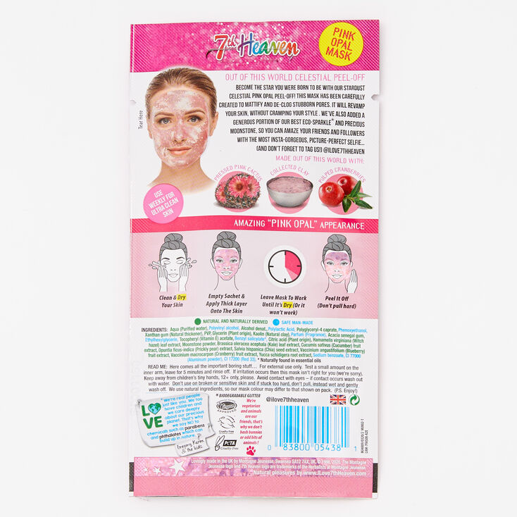 7th Heaven Stardust Celestial Pink Opal Peel Off Face Mask,