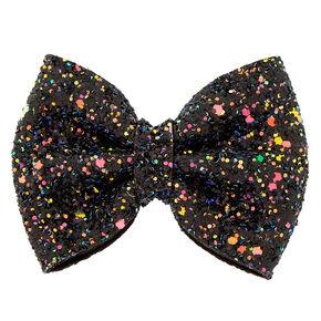 Cake Glitter Mini Hair Bow Clip - Black,