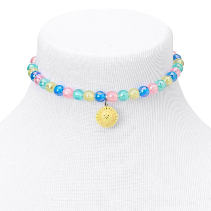 Claire's Club Sun & Rainbow Pastel Beaded Jewelry Set - 2 Pack,