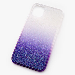 Purple Ombre Caviar Glitter Phone Case - Fits iPhone 11,