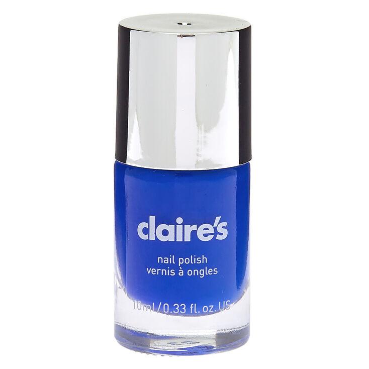 Vernis à ongles uni - Bleu fluo,