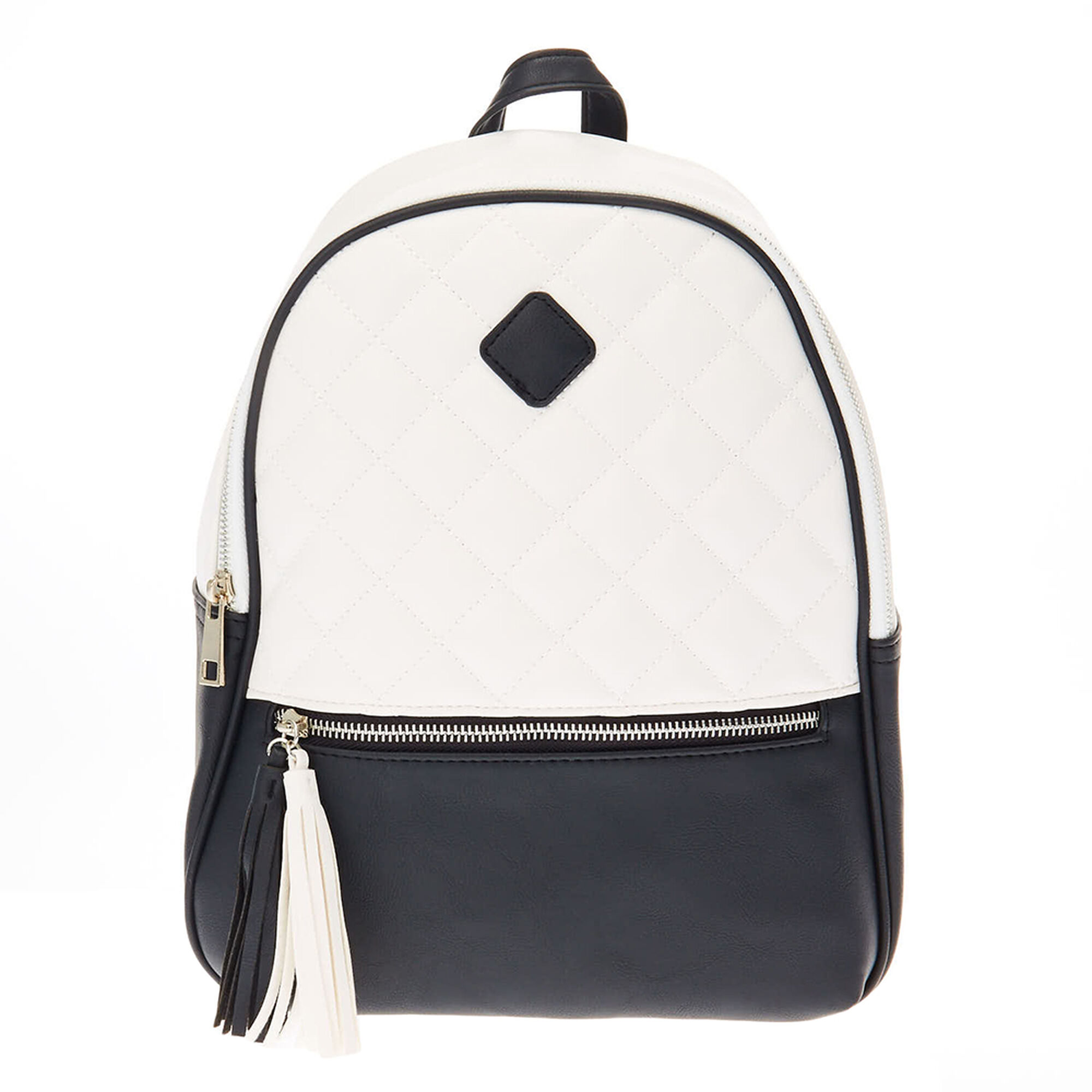 Monochrome Quilted Backpack Claire S Us
