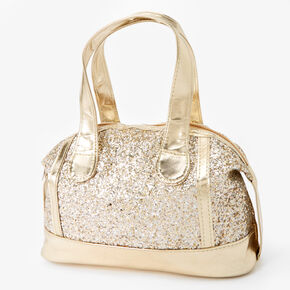 Claire's Club Metallic Glitter Purse - Gold,