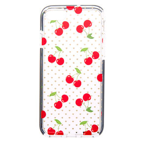 Cherry Heart Clear Protective Phone Case - Fits iPhone 6/7/8/SE,