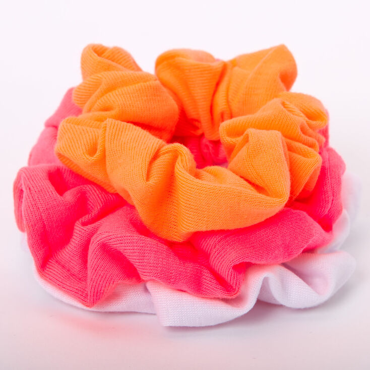 Small Hot Neon Hair Scrunchies - 3 Pack,