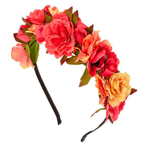 Pink Sunset Wildflower Headband,