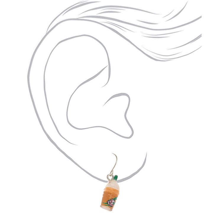 """1"""" Unicorn Frappe Drop Earrings,"""